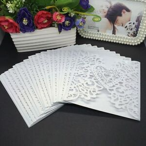 10Pcs-Business-Wedding-Greeting-Card-Invitation-Cards-Envelope-Hollow-Heart