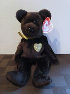 Ty Beanie Babies 2003 Signature Bear, PE Pellets, Mint w/ Tag