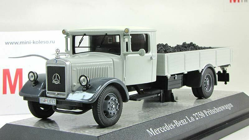 Scale model truck 1 43 Mercedes-Benz LO2750 pick up with coles