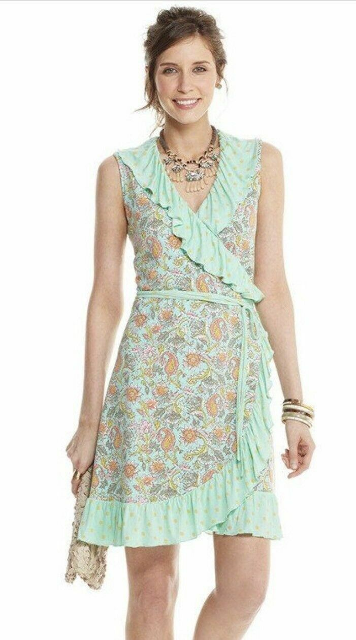 NWT MATILDA JANE Größe Small Wrapped in Sunshine Dress Happy & Free Spring damen