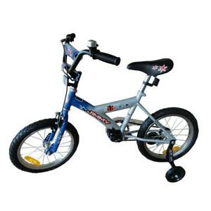 New Blue Jimmy 16 Inch Kids Push Bike With Training Wheels Ebay