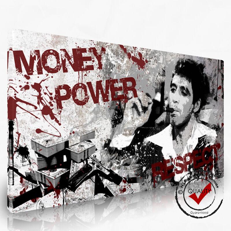 Al Pacino Scarface Bild POP Art Dig. Gemälde Leinwand Bilder Wandbild Film NI26