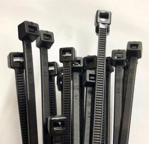 7.6mm x 250mm nero nylon Fascette