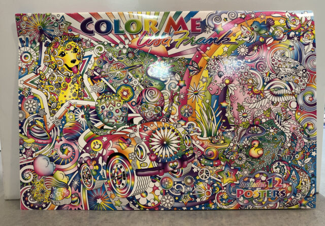 Lisa Frank Color Me 11x16 Poster Book Adult Coloring Book Unicorn Car Puppy  For Sale Online EBay
