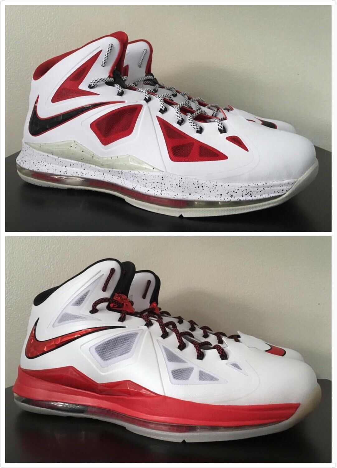 US16 Lebron James 10 PE 2 pairs sample promo game issue player exclusive