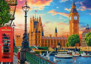 500-Pezzi-Puzzle-Londra-Big-Ben-Westminster-amp-Thames-NUOVO-e-SIGILLATO