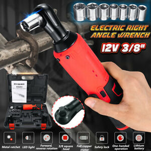 3-8-039-039-12V-45N-m-1500mAh-Cordless-Ratchet-Right-Angle-Wrench-W-2X-Li-ion-Battery