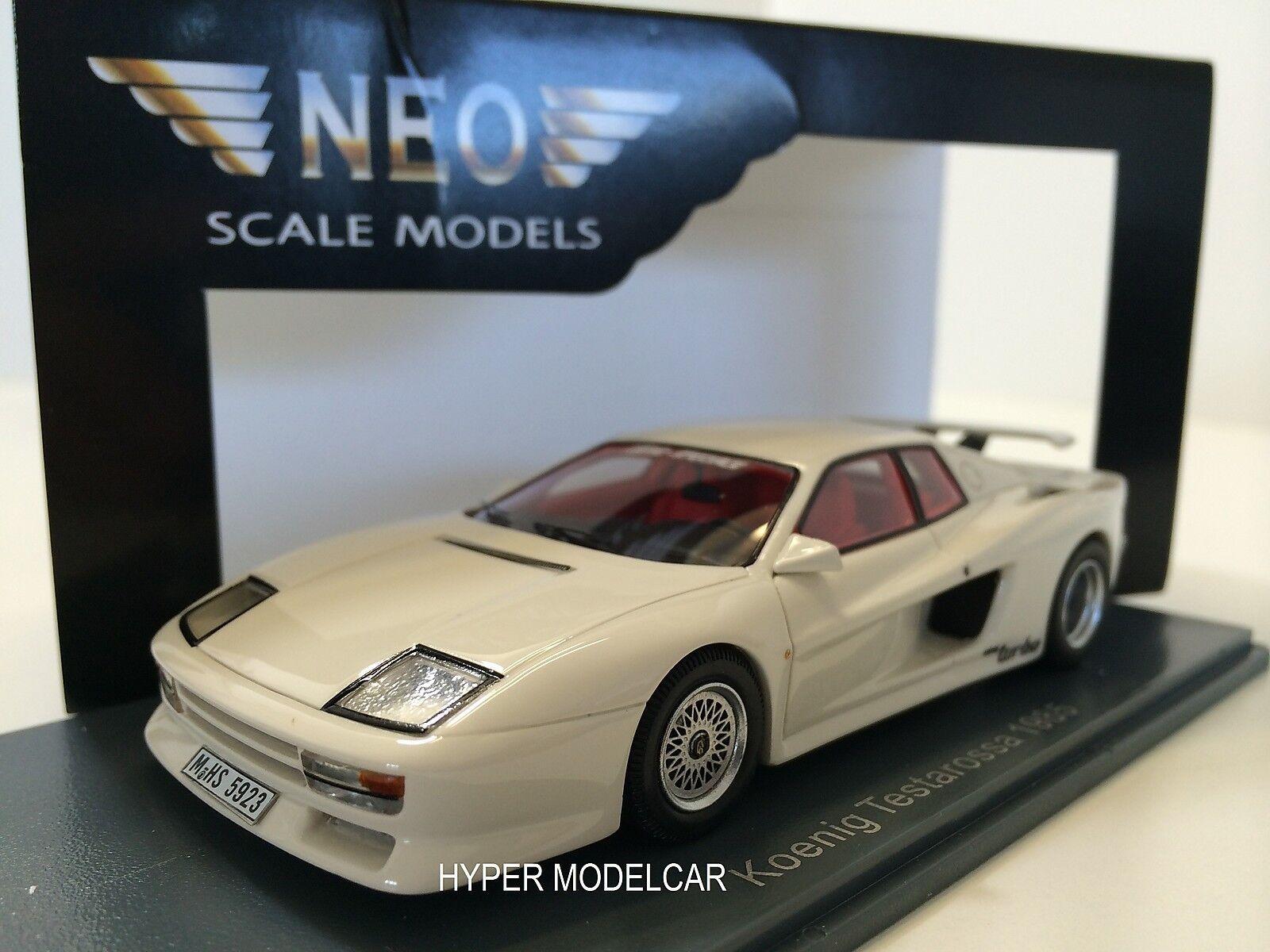 NEO Escalier Modèle 1 43 Ferrari Testarossa Koenig 1985 blanc Art. 45923