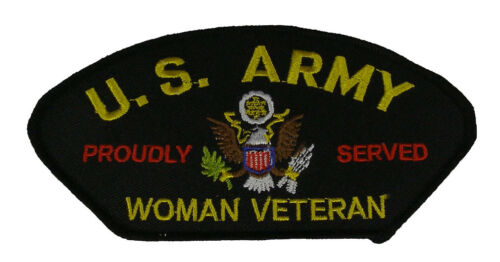 US ARMY WOMAN VETERAN PROUDLY SERVED PATCH FEMALE SOLDIER