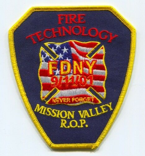 Mission Valley Regional Occupational Program ROP Fire Technology Patch Californi
