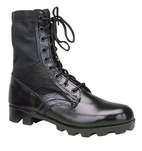 Rothco 5081 Black Leather Military G.I. Style 8 Jungle Boots, Mens Sizes 8-12
