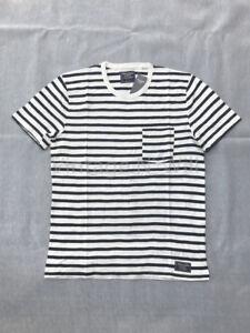 270a06308c Abercrombie Fitch Jeans Mens L White/ Navy Blue Stripe Chest Pocket ...