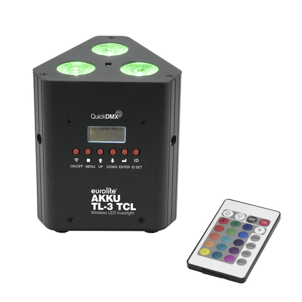 Eurolite LED Battery Uplighter Triangle TL-3 TCL Trusslight Lighting Wireless DM