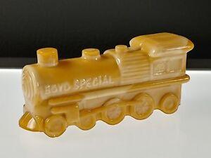 16-BAMBOO-Tan-ENGINE-TRAIN-LOCOMOTIVE-Boyd-039-s-Crystal-Art-Glass-8-20-86-NOS
