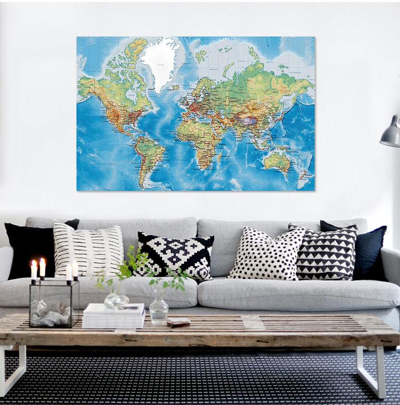 3D Weltkarte 345 Fototapeten Wandbild Fototapete BildTapete Familie AJSTORE DE