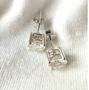 2Ct-Round-Gorgeous-Cut-Moissanite-Solitaire-Stud-Earrings-14K-White-Gold-Finish