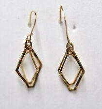 Simulated Diamond /& Alexandrite 14K Yellow Gold Flower Dangle Earrings 1Ct