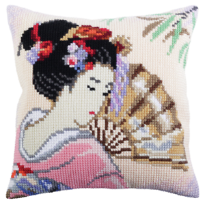 Collection d/'Art Cushion Cross Stitch Kit Beautiful Japanese All Included