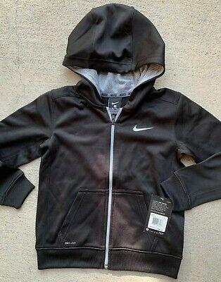NWT Boys 8-20 Nike KO Logo Fleece Hoodie Choose Size Black Anthracite