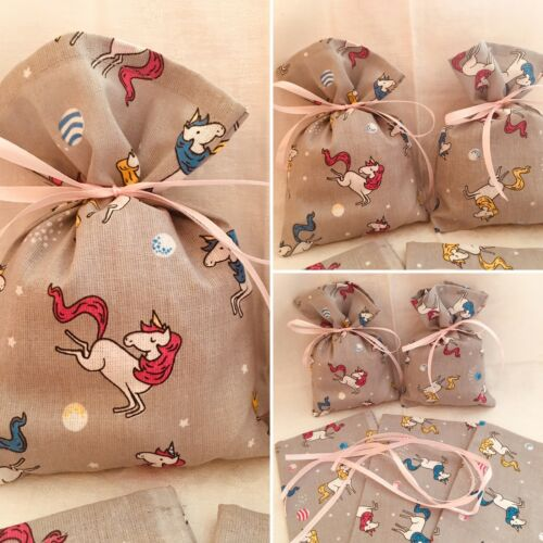 5 Fabric Bag 13,5 cm wide and 18 cm long Jewellery Pouch Gift Bags.