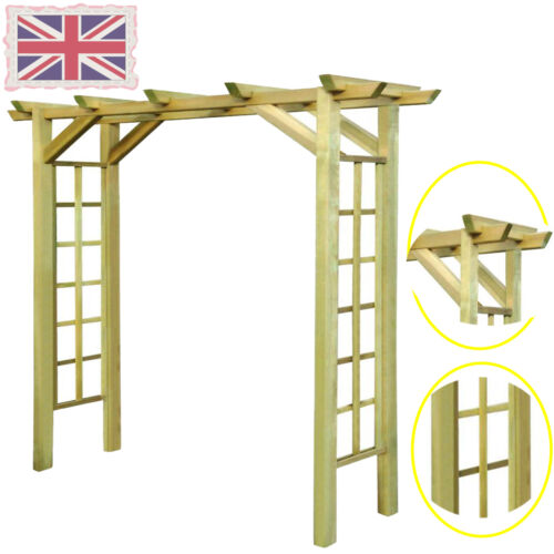 New Impregnated Wooden Arbour//Rose Arch 150 x 50 x 200 cm Garden Climbing Plant