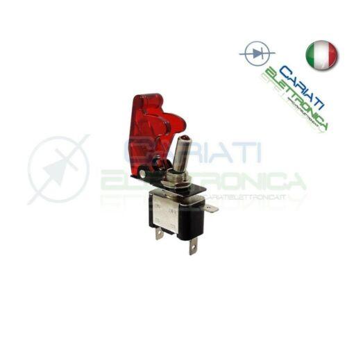 Interruttore Leva Con Led Rosso Tuning 12V 20A Trasparente