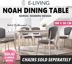 Noah Designer Dining Table 150x90 Cm 6 Seater Scandinavian Solid Wood White Oak 747501892054 Ebay