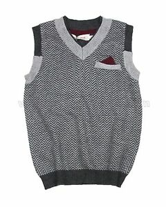 Deux par Deux Boys' Knit Vest Call Me Mister, Sizes 18M-10
