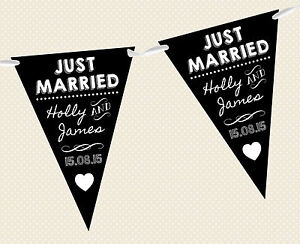 Tableau-Bunting-personnalise-Banniere-Just-Married-D2-decoration-mariage-noir