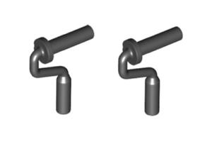 Lego ® lot x2 tocsin paint roller brush handle black paint roller 12885 new