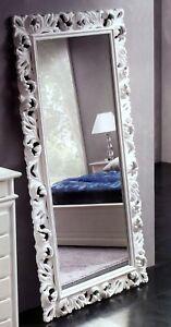Specchiera vogue cornice barocca foglia argento oro lacc - Specchio cornice nera barocca ...