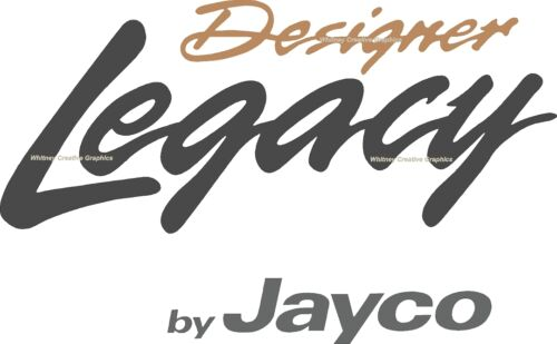 Designer LEGACY By Jayco  RV LOGO Graphic Lettering decal 5th Wheel