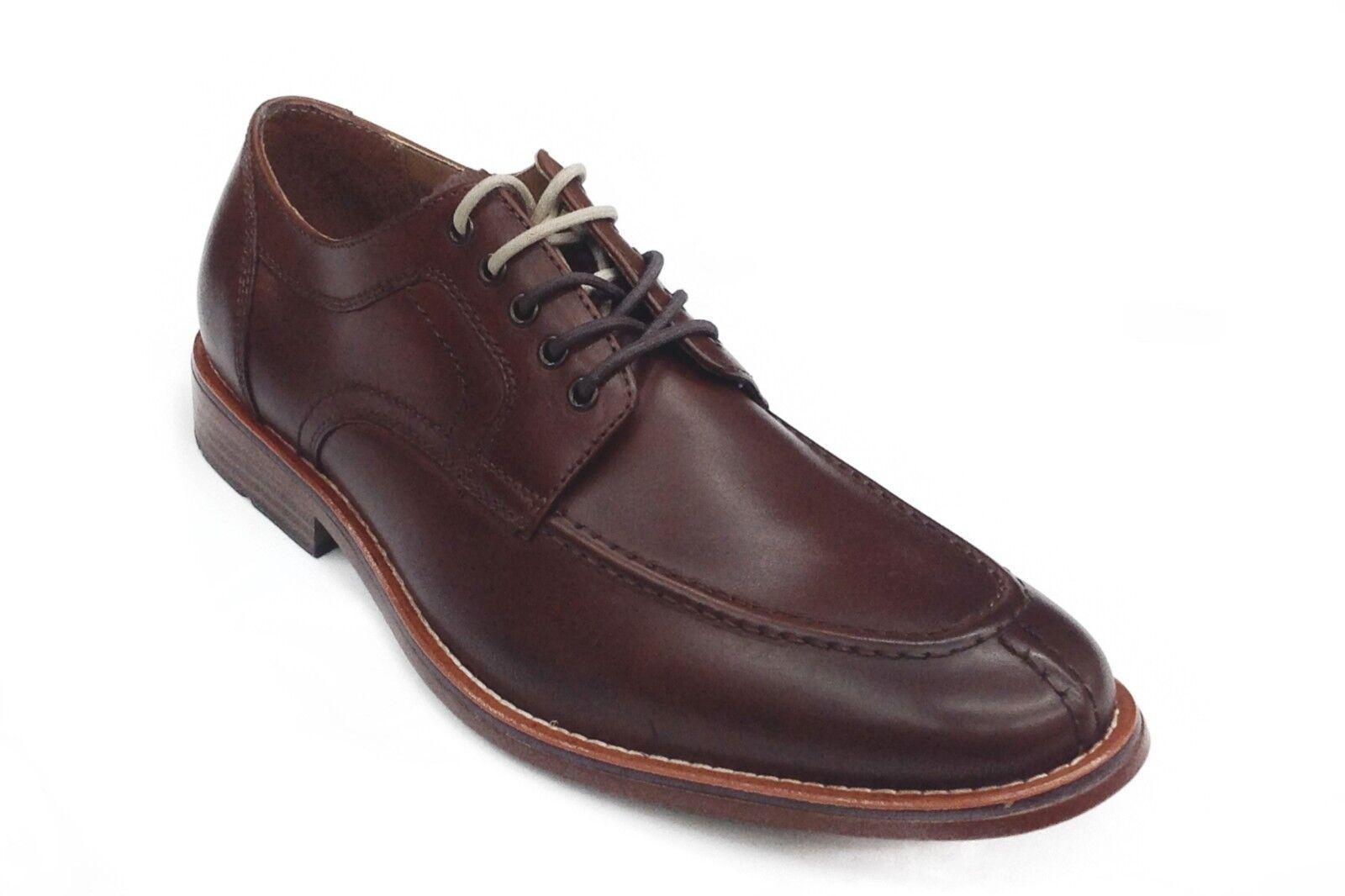 Uomo Bass Usa Pelle Dress shoes Split Toe Oxford 70-80172 Carsen British Tan