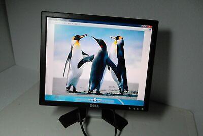 LOT OF 2 Dell E178FP LCD Monitors w// DARK SPOTS SCREEN W// 2VGA AND 2POWER CORDS