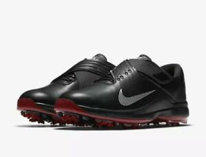 Nike TW 17 Tiger Woods Men s Golf Shoes Black   Silver 880955 001 ... 15cb0247e