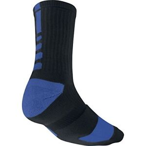 b909af094 NIKE MEN'S ELITE DRI-FIT BASKETBALL CREW SOCKS BLACK, ROYAL BLUE XL ...