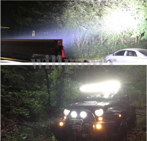 20 in approx. 50.80 cm 7D 288 W Camión SUV Haz Tri filas Combo Offroad Coche LED Luz Barra 12//24V