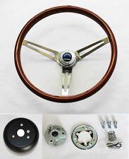 1967 Charger Dart Coronet High Gloss Finish Wood Steering Wheel stainless spokes