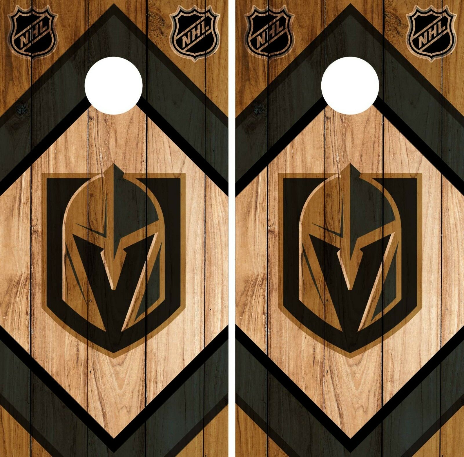 Vegas golden Knights Cornhole Wrap NHL Game Board Skin Set Vinyl Decal CO219