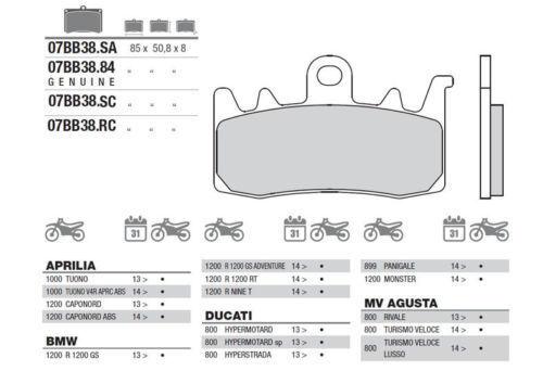 Brembo Bremsbelag vorne Genuine Sinter BMW R NINE T R 1200 RT 2014/> R1200R LC