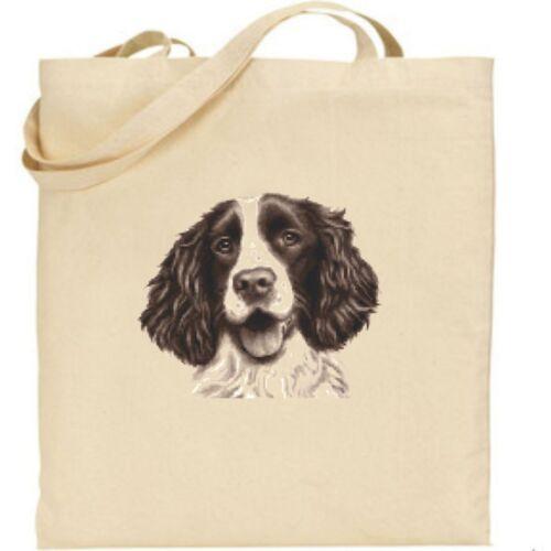 Springer Spaniel Tote Bag Cotton Bag for life Dog gifts