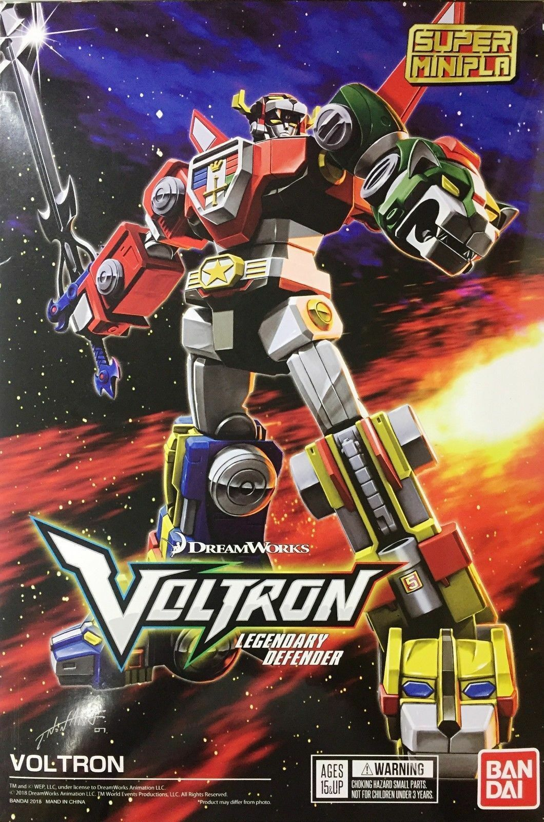 VOLTRON Golion Lionbot Snap Kit SUPER MINI PLA Legendary Defender Roboter BANDAI