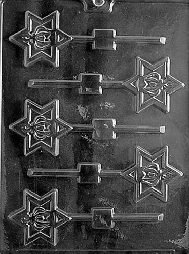 SEFER TORAH LOLLY POP  mold molds Chocolate Candy star of david torah crown