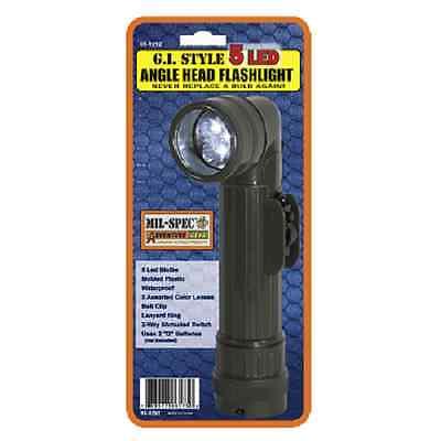 Mil-Spec 5 LED Angle Head Flashlight OD
