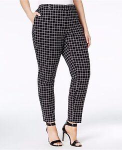 fbcdbf92b214b MICHAEL Michael Kors Plus Size 18W Miranda Check-Print Skinny Pants ...