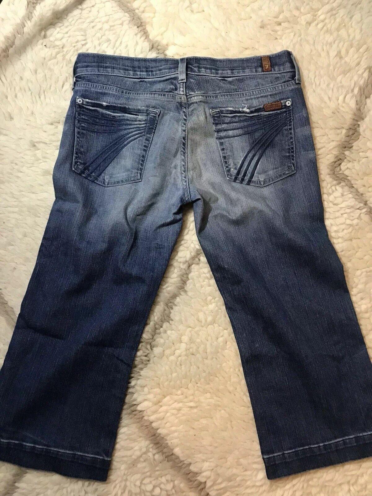 Pour All Mankind Dojo Crop Wide Leg Jeans Blau Größe 29