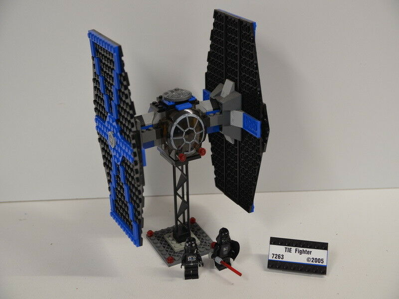 7 ) Lego 7263 Star Wars - Tie Fighter  mit 2 Figuren ohne BA , incl.Darth Vader