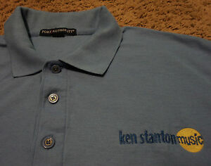 Details about Mens KEN STANTON MUSIC Store Employee Instructor Polo Shirt  XL Drums Guitar