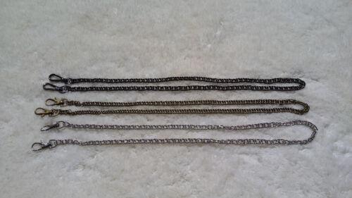 "Sturdy Crossbody Chain Handle Strap 44/"" Wallet or Miche Petite Gun Metal"