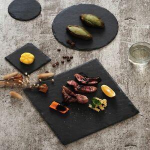 Natural Slate Dishes Stone Sushi Steak BBQ Food Vege Fruit Cutting Plate Kitchen